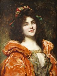 Renaissance Art Woman Painting