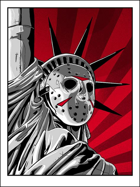Jason Voorhees X The Statue Of Liberty Friday The 13th