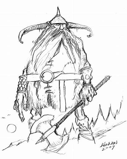 Sketch Giant Frost Drawings Fantasy Quirky Inspirational