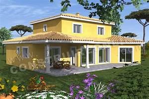plan de maison traditionnelle italique With exceptional modele de maison en l 4 photo terrasse maison provencale