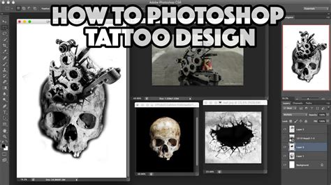 How To Photoshop A Tattoo Design  Youtube