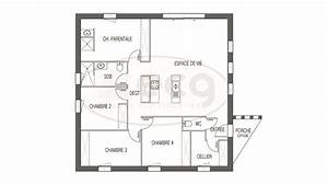 Plan Maison 1 Chambre 1 Salon : maison ilona 4 ch my planonline ~ Premium-room.com Idées de Décoration