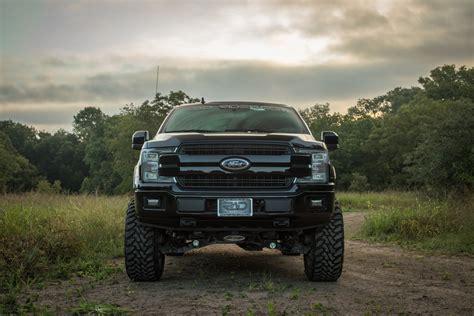 Diesel 2018 F-150 Lifted 4x4 Ford Lariat Truck Black