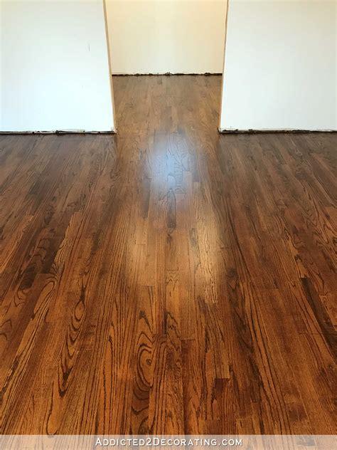 newly refinished red oak hardwood floors addicted