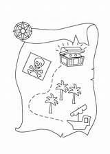 Treasure Map Coloring Pirate Printable Preschool Drawing Sailing Sheet Cartoon Template Play Treasures Invitation Templates Library Clipart Popular Coloringtop sketch template