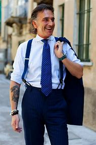 Wearing Suspenders with Suit
