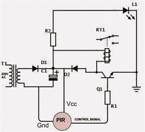 4 Simple Motion Detector Circuits Using Pir
