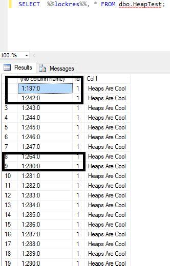 heap fragmentation  sql server