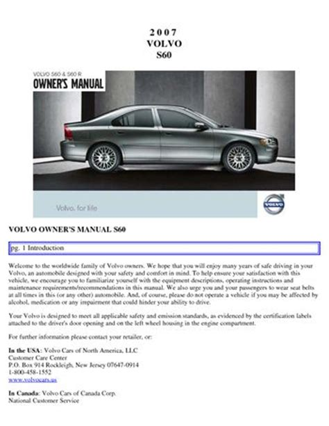 download car manuals 2007 volvo s80 electronic throttle control download 2007 volvo s60 owner s manual pdf 200 pages