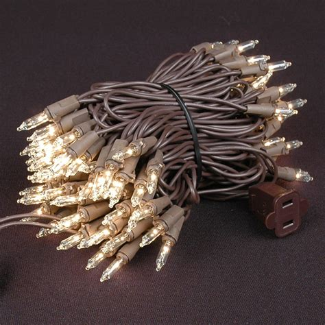 clear wire christmas lights christmas mini light sets 100 light brown wire 4 quot spacing
