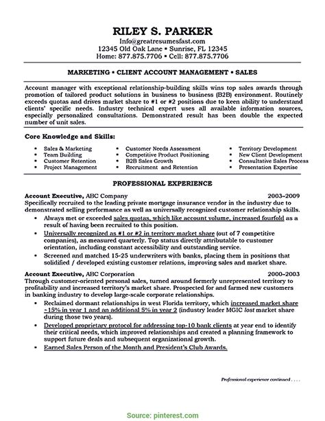 Executive Resume by Account Executive Resume Sle Ipasphoto