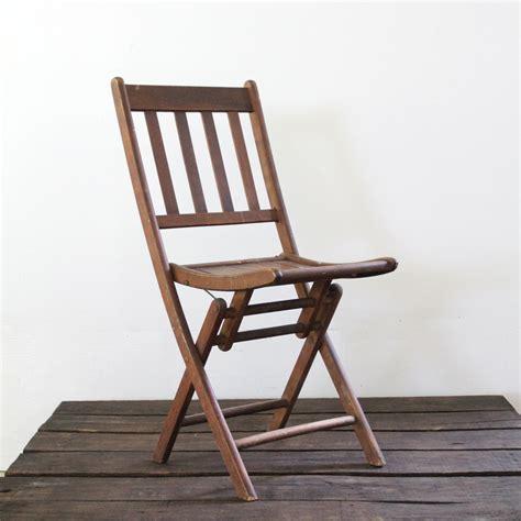 wood folding chair vintage wood slat folding chair