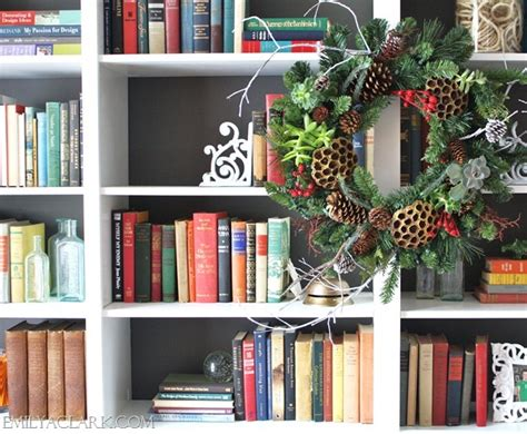 bookcase christmas decorating ideas a woodland inspired christmas emily a clark