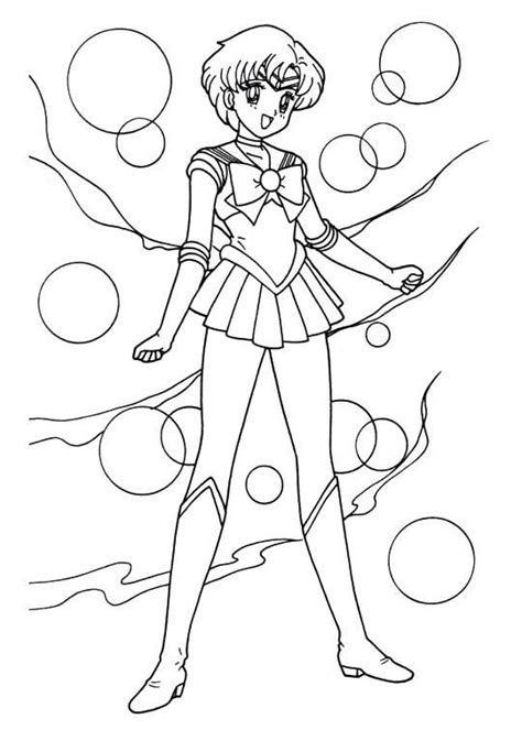 Gizmo Kleurplaat by Sailor Moon Series Coloring Pages Sailor Mercury ぬりえ