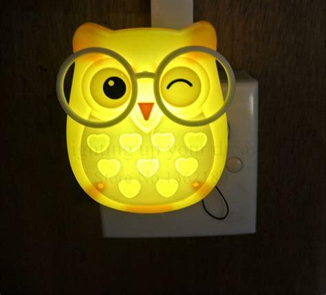 owl wall night light cute cartoon owl led mini night light auto control sensor