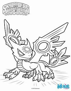 Spotlight the white dragon coloring page from skylanders ...