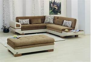 Two tone fabric vinyl modern sectional sofa w optional for Modern two tone sectional sofa with ottoman