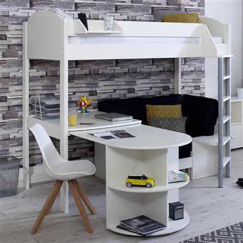 High Sleeper Bed With Sofa by Stompa Casa D High Sleeper With Sofa Bed Pull Out Desk
