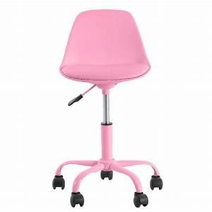 Chaise Bureau Rose : chaise bureau fille rose le monde de l a ~ Teatrodelosmanantiales.com Idées de Décoration