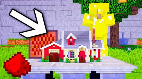 smallest redstone house  minecraft youtube