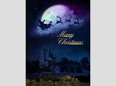 Christmas Fantasy Poster Background Template, Christmas