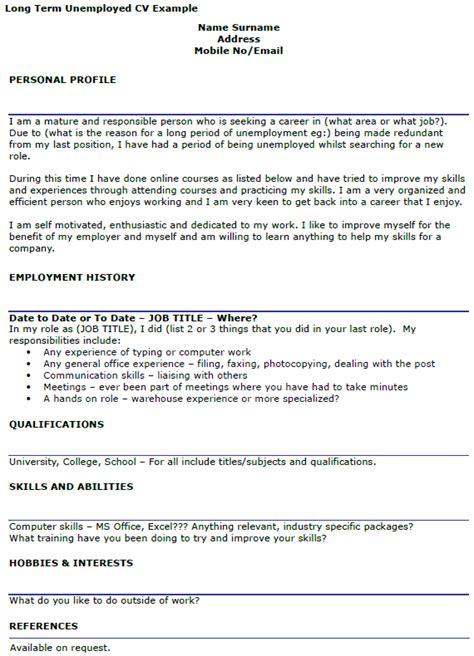 cover letter exle unemployed covering letter exle