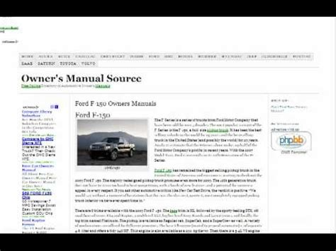 free service manuals online 1994 ford escort free book repair manuals ford f150 owners manual free youtube