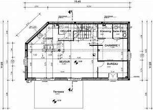 Plan de maison avec cotation for Plan maison avec cotation