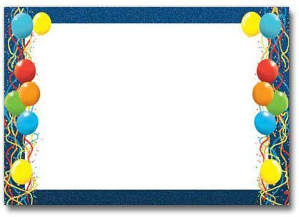 birthday balloons border fantastic frames walljpg