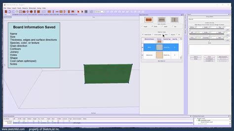 sketchlist  woodworking design software    virtual board youtube