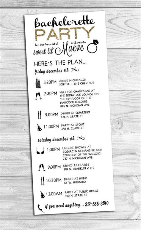 bachelorette itinerary template free 25 best ideas about bachelorette itinerary on bachelorette pictures