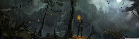 tomb raider  night concept art ultra hd desktop