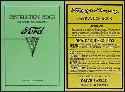 ford  car pickup owners manual reprint