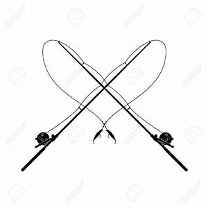 Fishing Rod clipart black and white - Pencil and in color ...