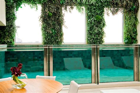 duplex apartment  malibu  glass swimming pool