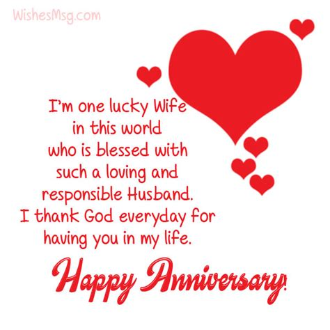 wedding anniversary wishes messages  husband wishesmsg