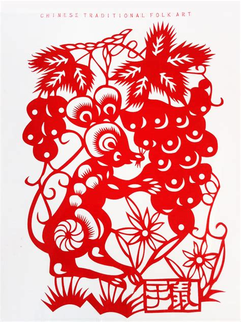 chinese zodiac animal pictures  paper cutting