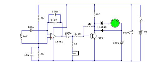 How Build Electromagnetic Field Detector Circuit Diagram