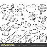 Dessert Coloring Desserts Pages Clipart Drawing Illustration Template Visekart Royalty Getdrawings Rf Sketch sketch template