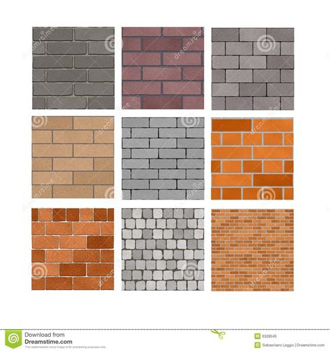 different types of brick patterns brick wall textures stock illustration image of background 6328545