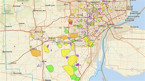 dte energy outage map thousands  metro detroiters