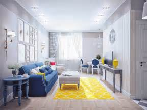 yellow livingroom blue and yellow home decor