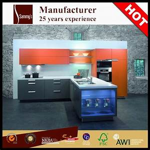 high quality luxury pre assembled fiberglass wood kitchen With best brand of paint for kitchen cabinets with made in china stickers