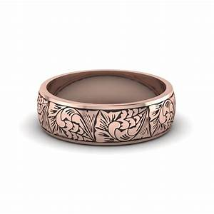 unique and affordable 14k rose gold mens wedding band With mens rose gold wedding rings