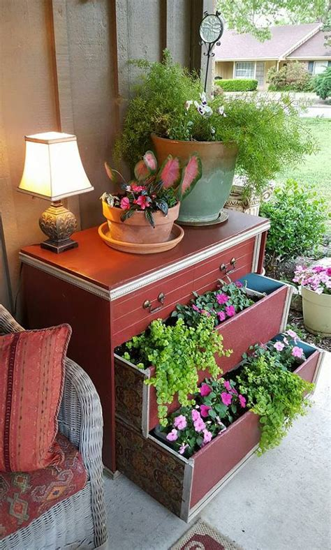 How Turn Old Dressers Into Amazing Planters