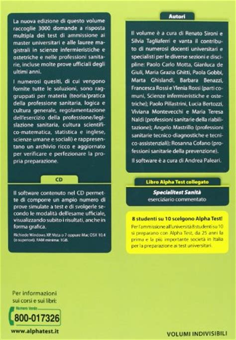 Test Specialistica Infermieristica - libro master e lauree magistrali scienze infermieristiche