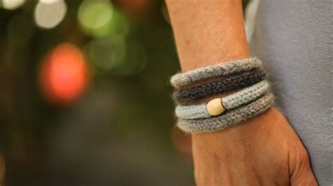 felted knit wool bracelets kin diy youtube