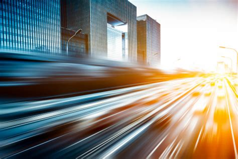 Motion Blur Image Of Traffic In Beijing China Stock Photo ...