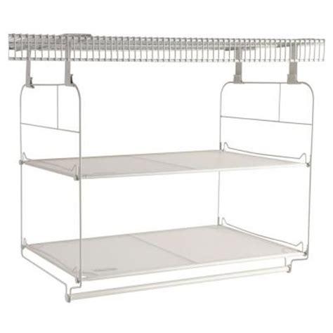 rubbermaid 23 in closet helper shelf and hang unit