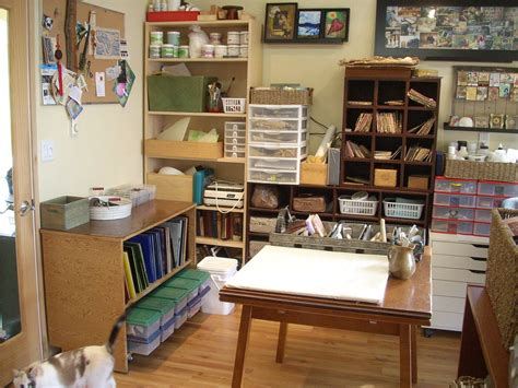 Craft Room Home Studio Setup by Stained Glass Studio Organization Crafts Studio Spaces